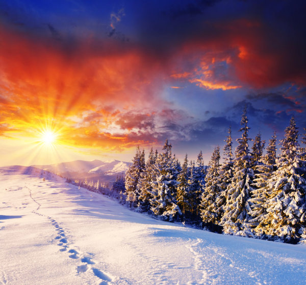 Winter landscape HD picture material 9