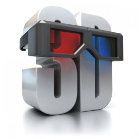 3D stereoscopic font with red and blue glasses   HD Pictures