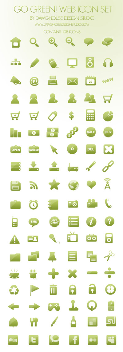108 green web design simple png icon