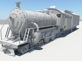 3D model of the steam train