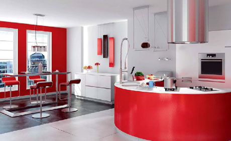 3D models of modern kitchen