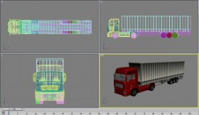 [3D] transport trucks the truck trailer MAX source file