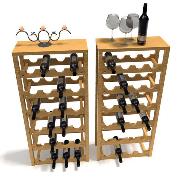 3D variety of wine related items  5