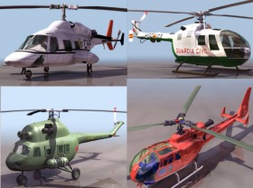 6 3D helicopter model