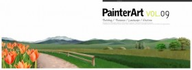 A banner illustrator scenery PSD layered material  1