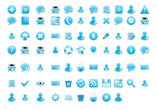 Abroad 75 Multi size blue PNG Icon