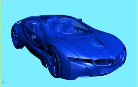 BMW concept car MAX BMW concept of ultra running; sports car; modeling; model; MAX