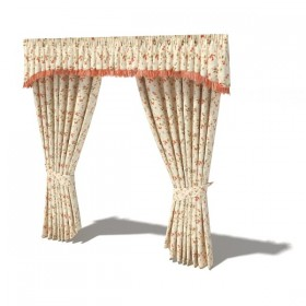 Boutique curtains 3D model 02 (with material)