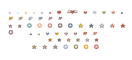 Can love shaped and star gif small icon