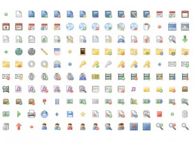 Color pixel web design decorative small icons