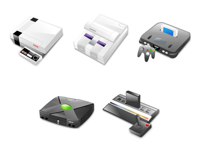 Consoles icons transparent png