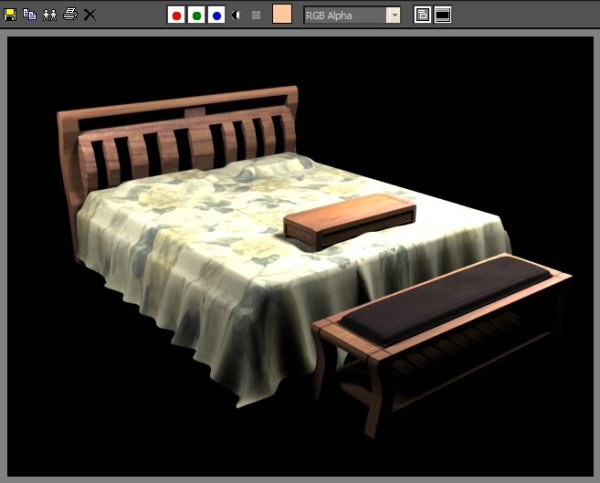 Double wood bed MAX