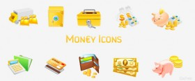Financial money class icon png