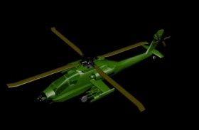 Helicopter 3D model material