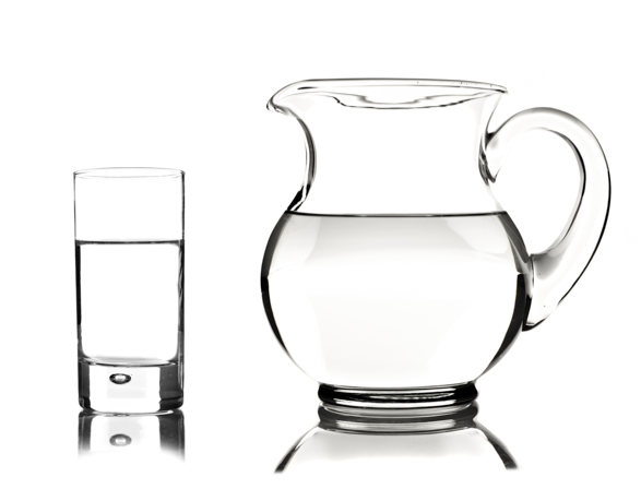 High quality pictures of the glass container