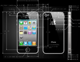 IPhone 4 official latest CAD design