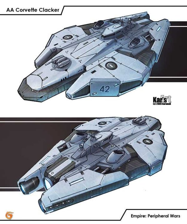 Karanak weapons spacecraft set