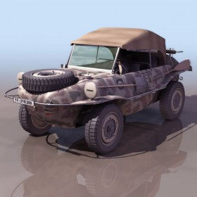 Military Jeeps 3D model