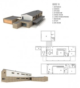 Modern architectural 3D model  11