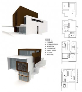 Modern architectural 3D model  13