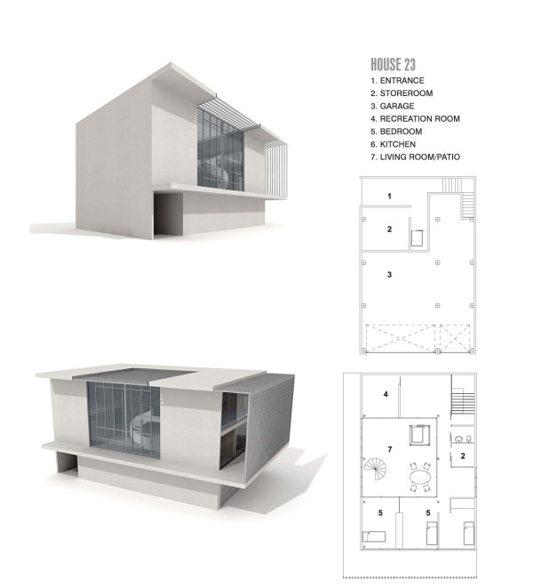 Modern architectural 3D model  24