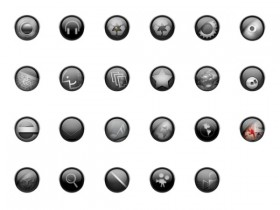 Round crystal style icon png