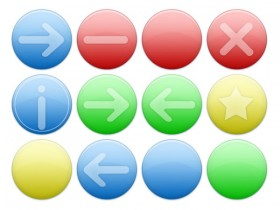 Round the common button icons transparent png
