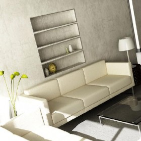 Simple and neat living room scene 3D model