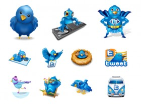 The 100 twitter Lovely creative icon
