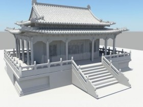 The Chinese palaces 3D model