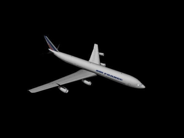 The aircraft 3D modeling MAX format