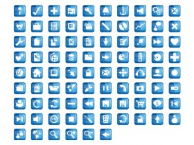 The blue crystal web design commonly used icons png