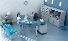 The cold hue office 3D models