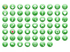 The green crystal circular commonly icon transparent png