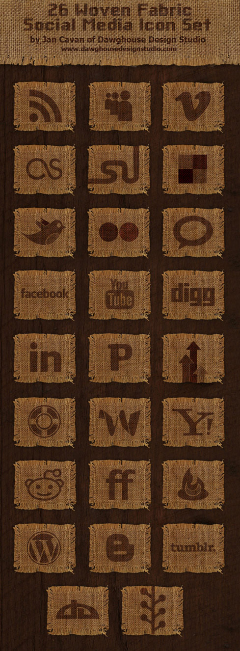 The linen texture web2.0 applications png icon