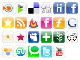 The popular web2.0 Web logo button icon png
