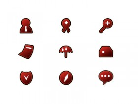 The red website design utility icon png