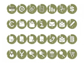 The round nostalgic style decorative icons png