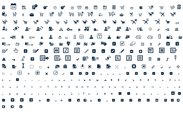Various black practical transparent gif icon material  1