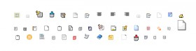 Various text small icons gif material