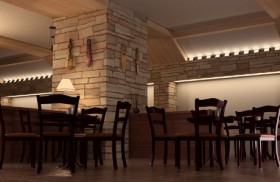 Warm foreign style restaurant 3D model