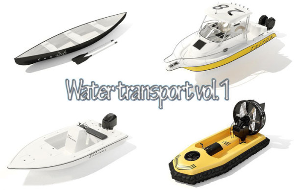 Water transport (canoes, yachts, motorboats) Water Transport Vol.1