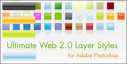 Web 2.0 style navigation bar button effect png and photoshop style download