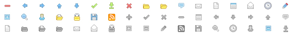 Web design commonly used small icon gif