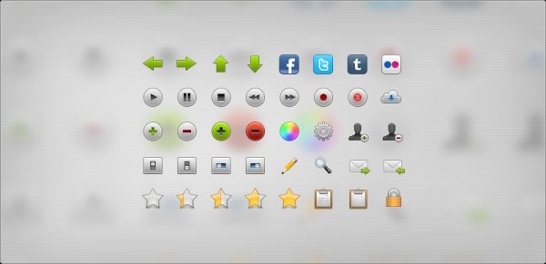 Web2.0 trend vector icon collection