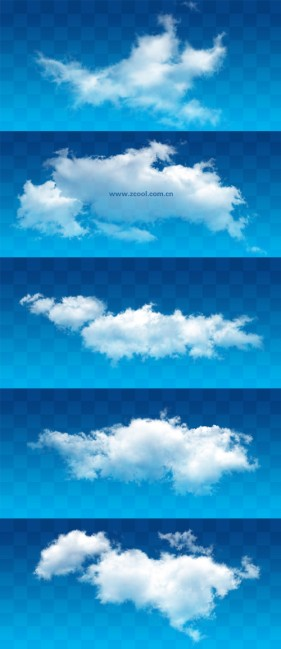 White clouds PSD layered high definition pictures (11 15)