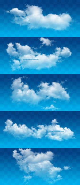 White clouds PSD layered high definition pictures (6 10)