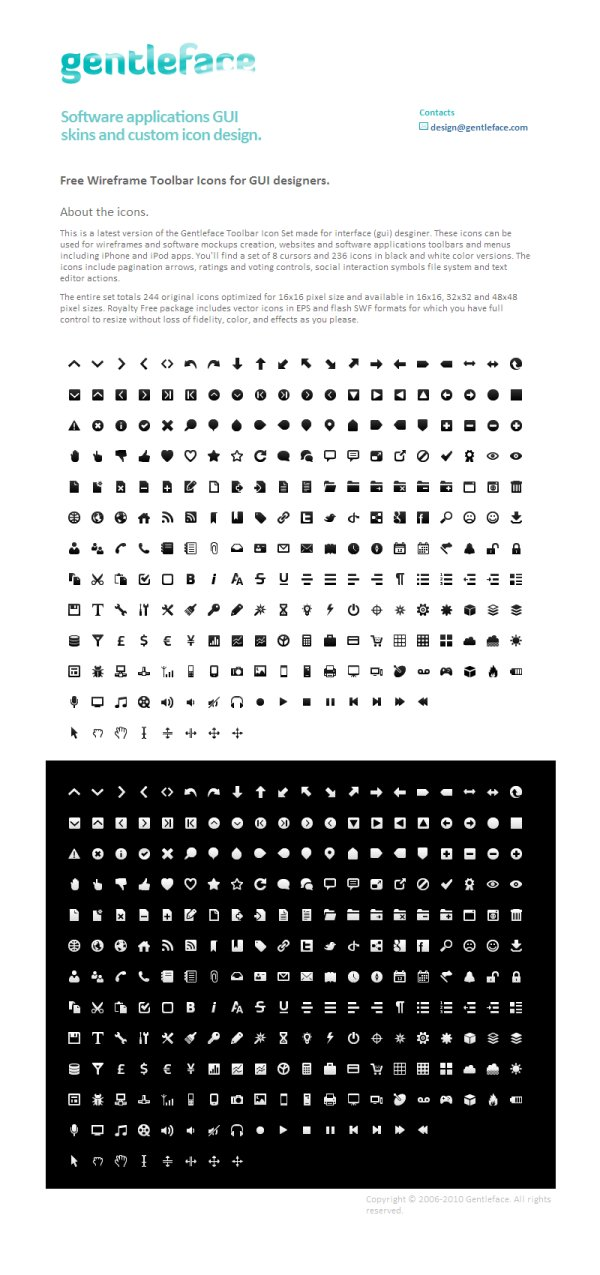 Wireframe Mono Minimalist style icon of the black and white sets Totaling 244