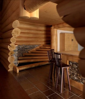 Wooden indoor scenes 3D model