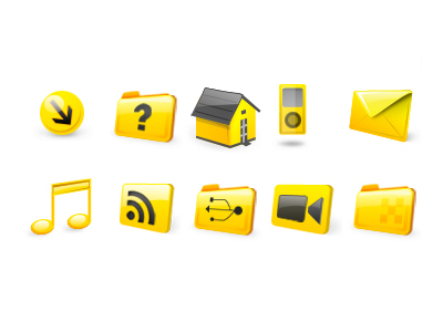 Yellow web design commonly used small icon png